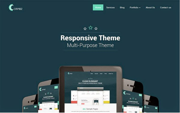 Corpbiz Free Portfolio WordPress Theme