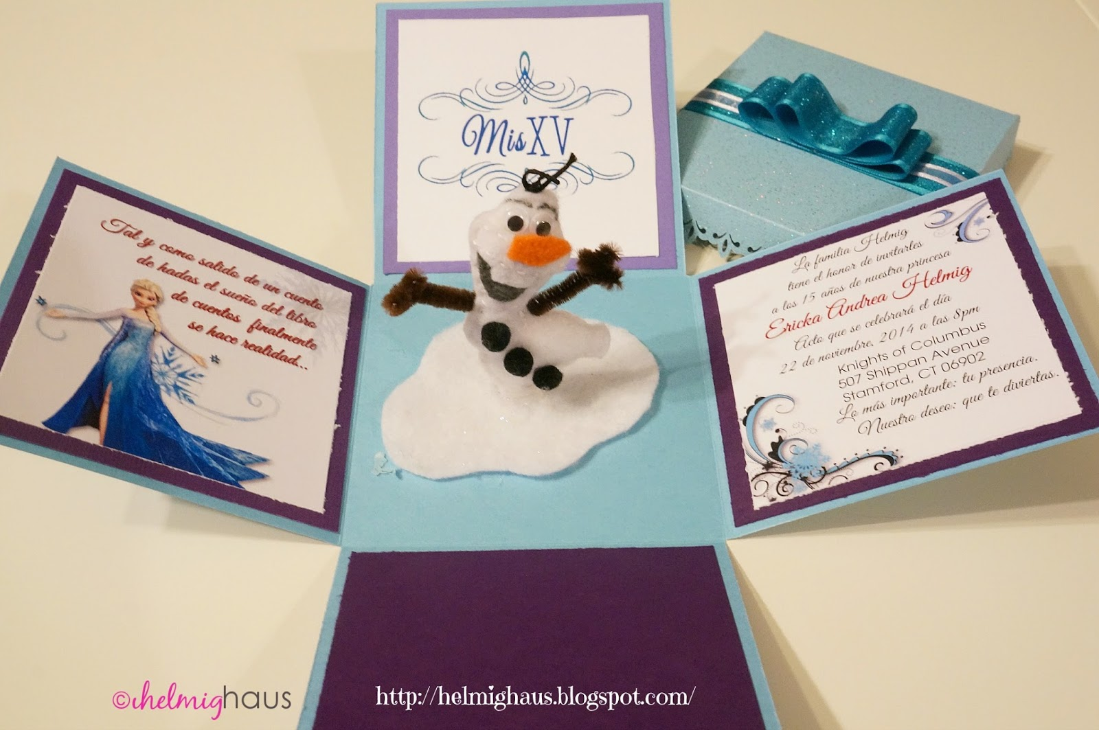helmighaus planning a quinceañera party frozen themed invitations