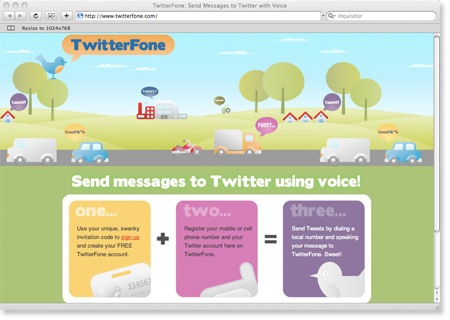 Twitterfone Site for Sending Tweet With Sound