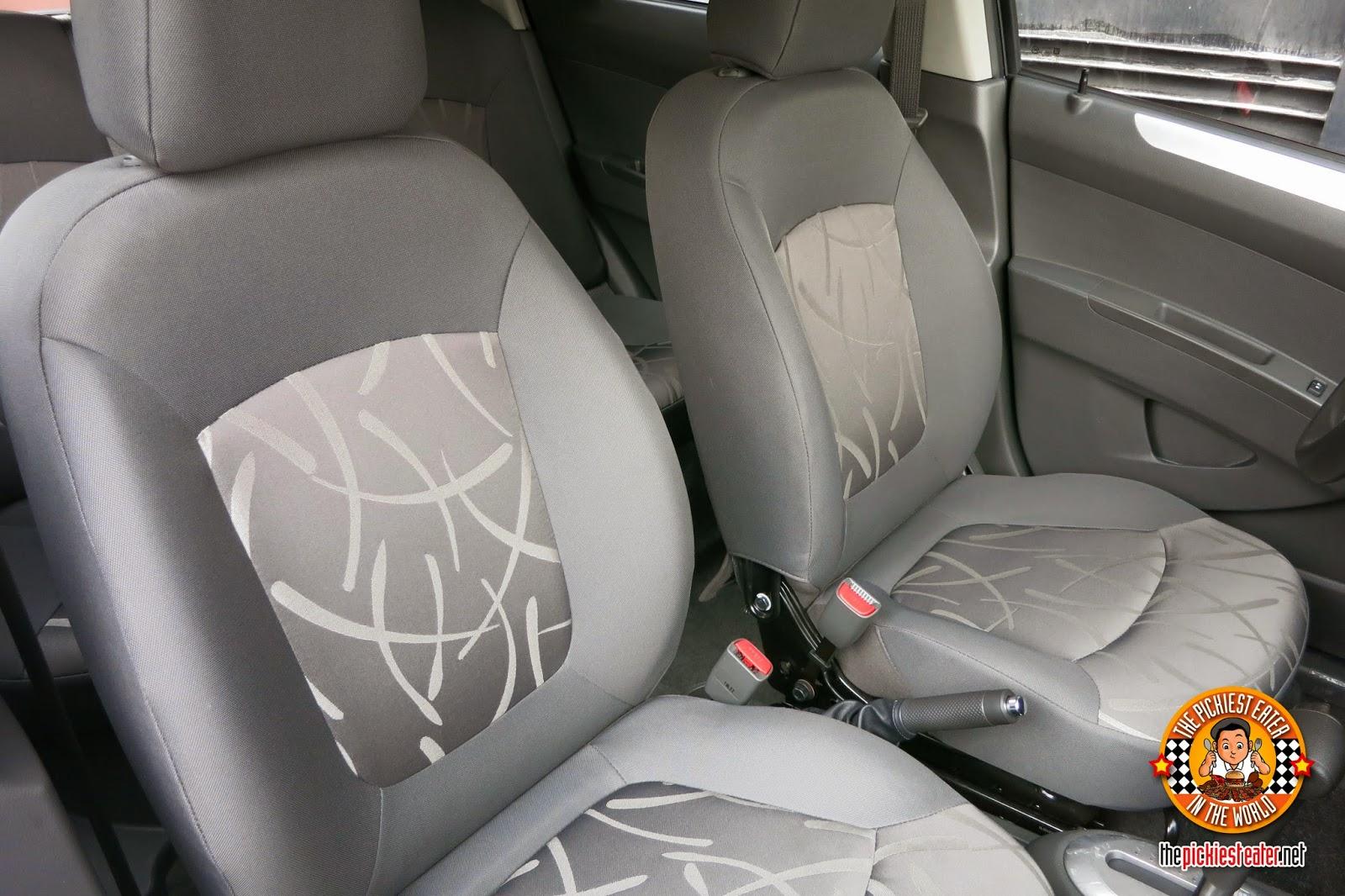 chevrolet spark seats