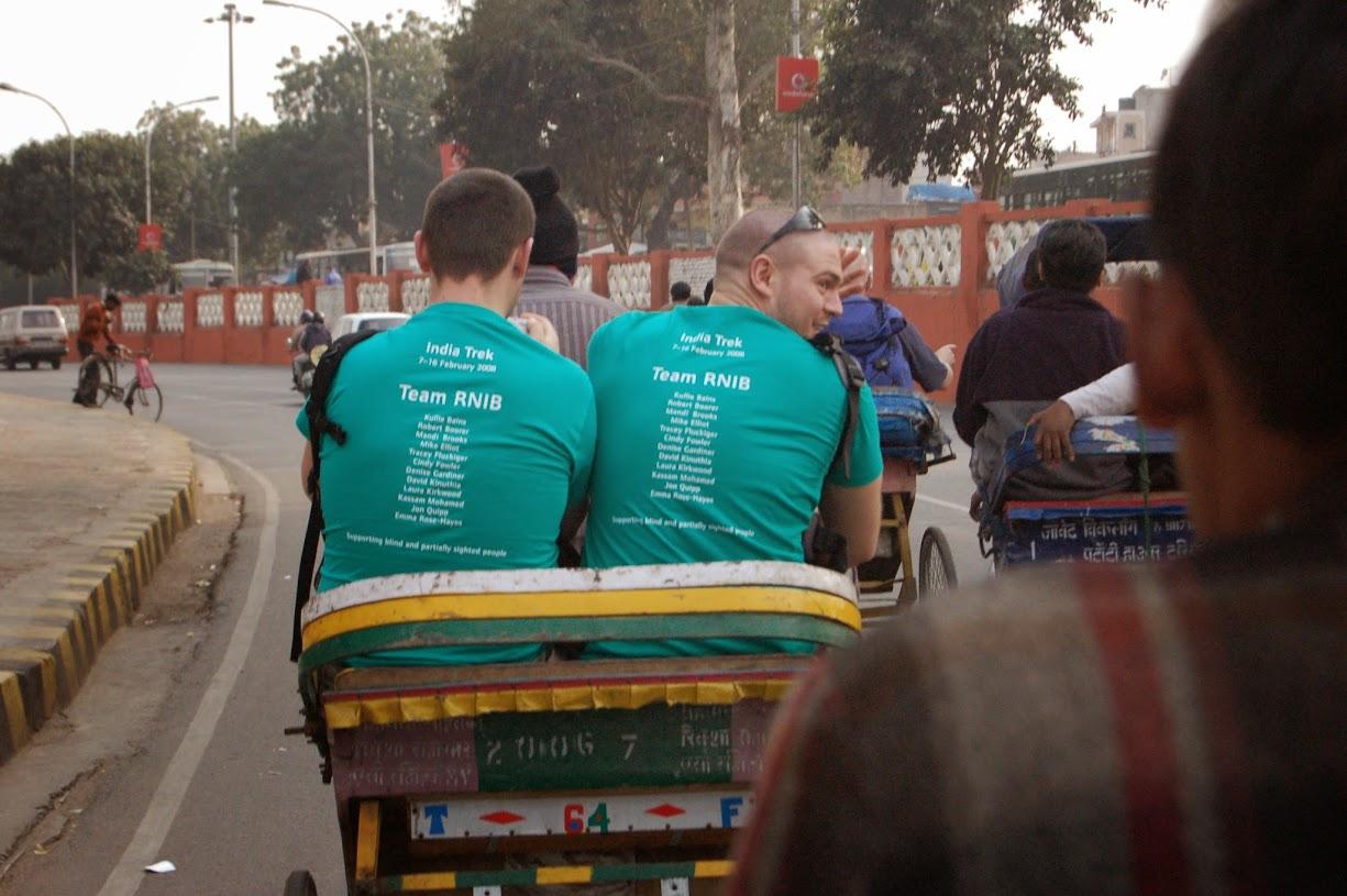 Rickshaw rides in India
