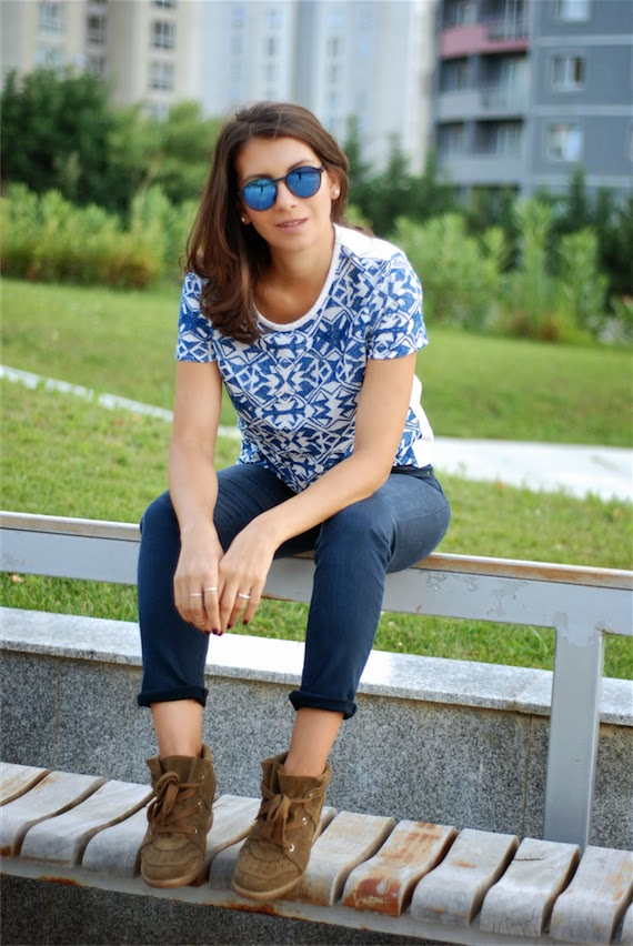 maje,streetstyle,acne jean,isabel marant sneakers, blogger,fashion,trendydolap