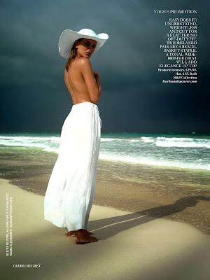 Bregje Heinen hot in sexy bikini swimsuit for Vogue UK photoshoot