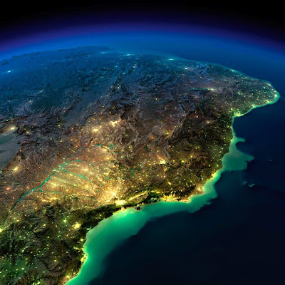 Brasil visto por um satélite da Nasa