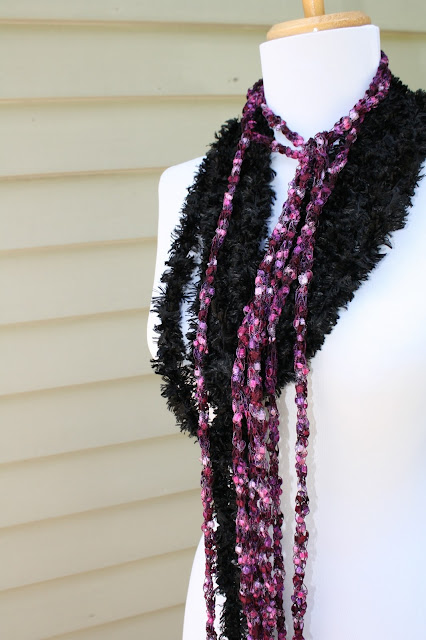 Free Knitting Patterns For Skinny Scarves : All Knitted Lace: Pattern: Long Skinny Scarf or What to Do with Your Novelty ...
