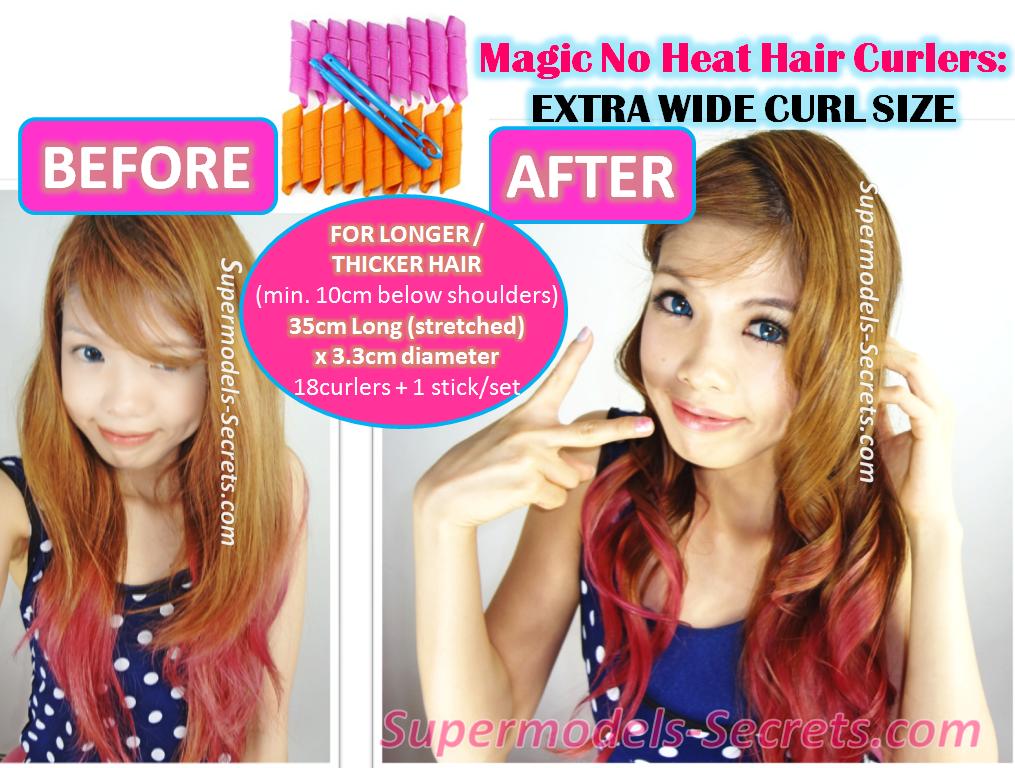 Supermodels secrets beauty blog magic no heat hair curlers standard