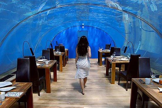best restaurant interior design ideas ithaa underwater. Black Bedroom Furniture Sets. Home Design Ideas