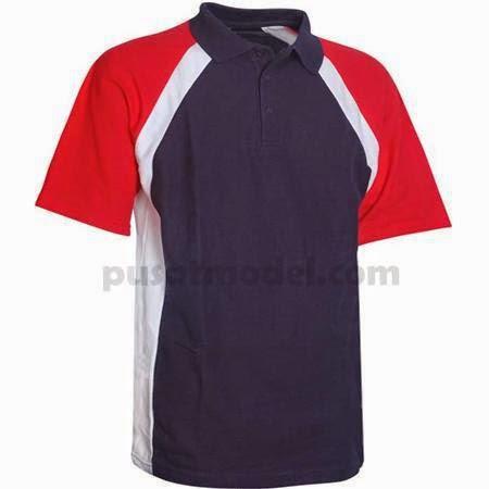 Kaos Olahraga Berkerah Merah Desain Polos