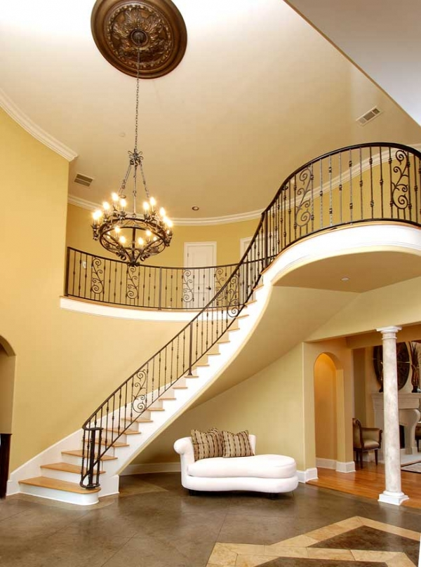 Foyer Curved Staircase : Thrifty and chic diy projects home decor