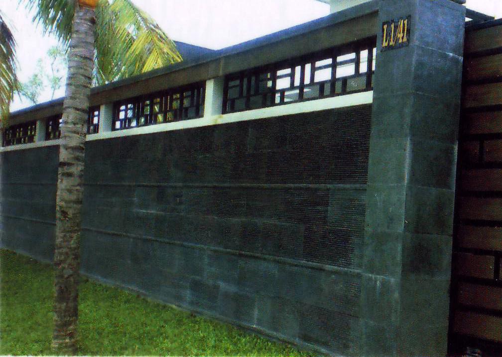 andesit alur lurus untuk dinding pagar talaga alam