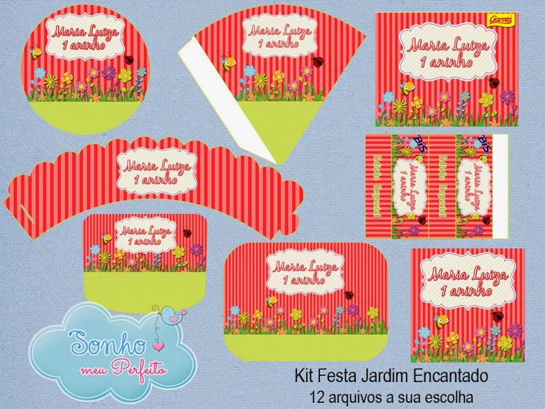 kit festa jardim encantado:Sonho Meu Perfeito: Arte Digital – Kit Festa Jardim Encantado