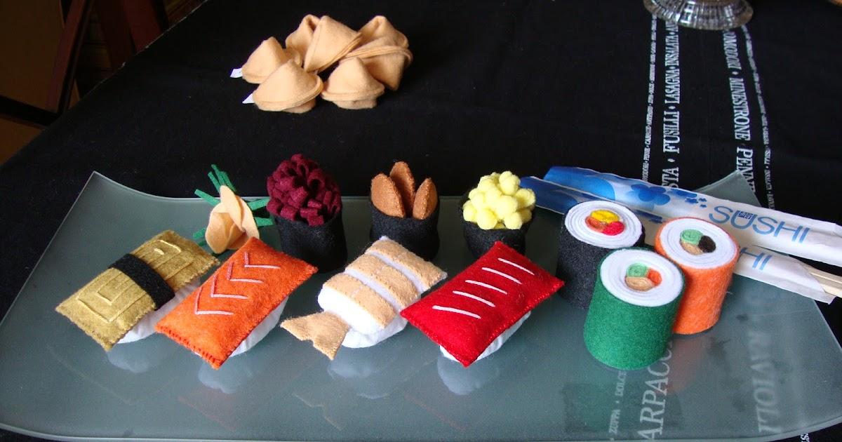 Agariguyi complementos de fieltro sushi de fieltro para for Complementos de decoracion