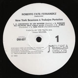 Roberto Fats Fernandez: New York sessions & trabajos porteños (1989)