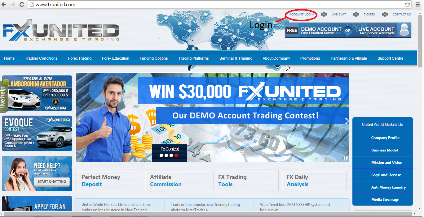 Cahaya Trader Forex: Tutorial 1 - How to register as FxUnited member