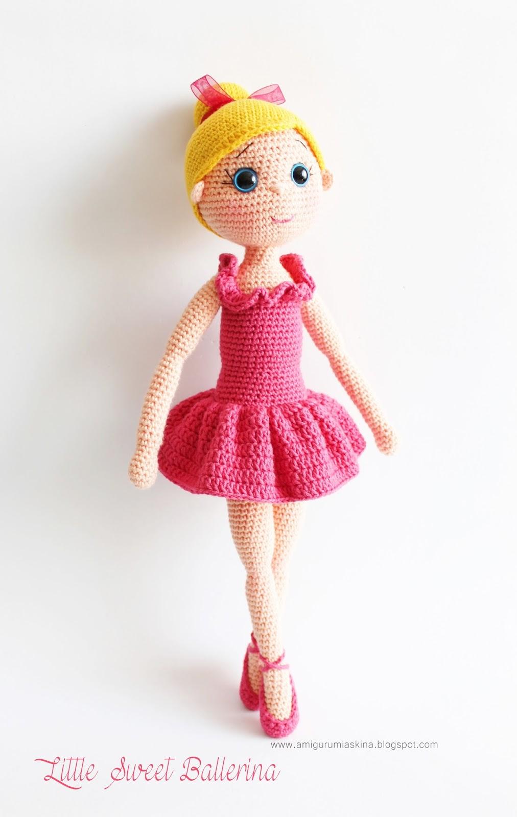 Amigurumi Ballerina Doll : Amigurumi Balerin Bebek- Amigurumi Ballerina Doll ...