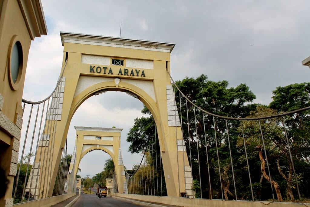 Jembatan Kota Araya Perumahan Blimbing Indah Kota Malang