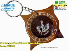 Gantungan Kunci Batok Kayu Sablon