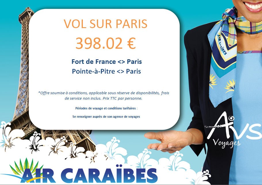 promo air caraibes billets 400 euros 2013 air bons plans promos voyages et. Black Bedroom Furniture Sets. Home Design Ideas