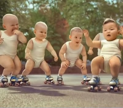 Propaganda da Água Evian (Roller Babies) no ano de 2009