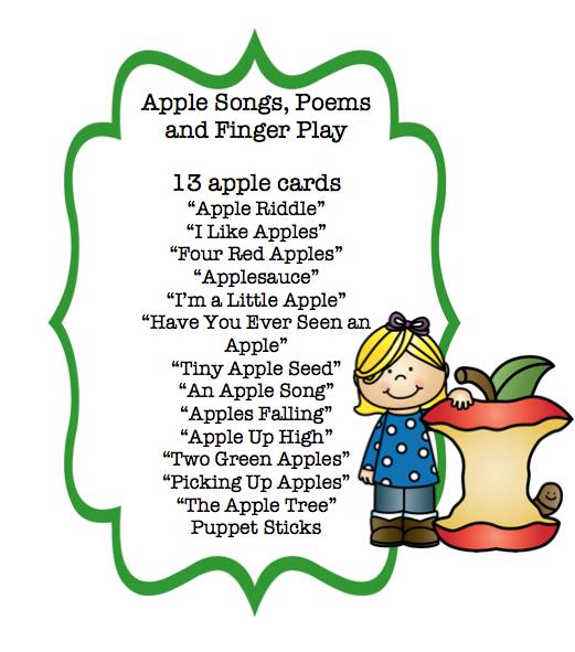 apple songs preschool apple songs poems and finger play cards preschool 239