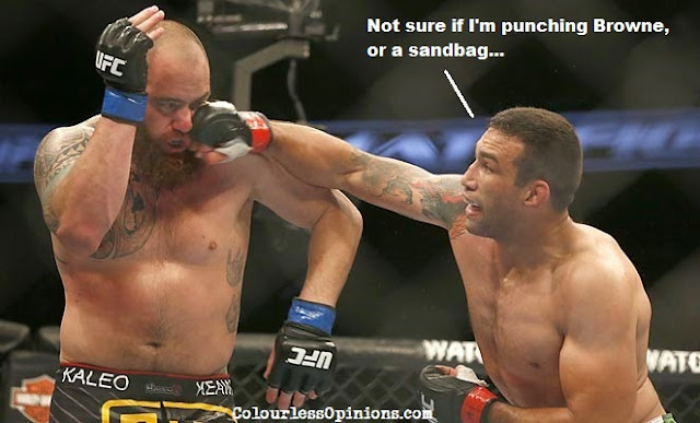 Werdum punches Browne - UFC on FOX 11 meme