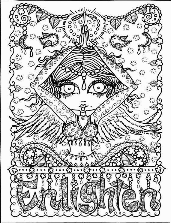 yoga coloring pages halloween free - photo#32