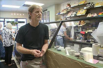 Jack Phillips, owner of Masterpiece Cakeshop, defends his stance on gay marriage wedding cakes (9News)