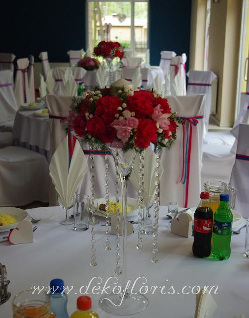 dekoracje weselne Turawa Hotel Zielony amarant