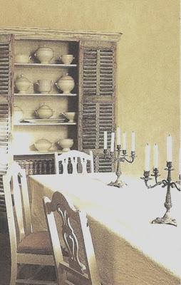 Dining Room via Côté Sud Magazine, edited by lb for (l&l)