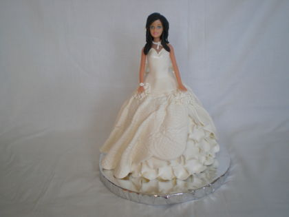 mais que tartas: tarta vestido de novia