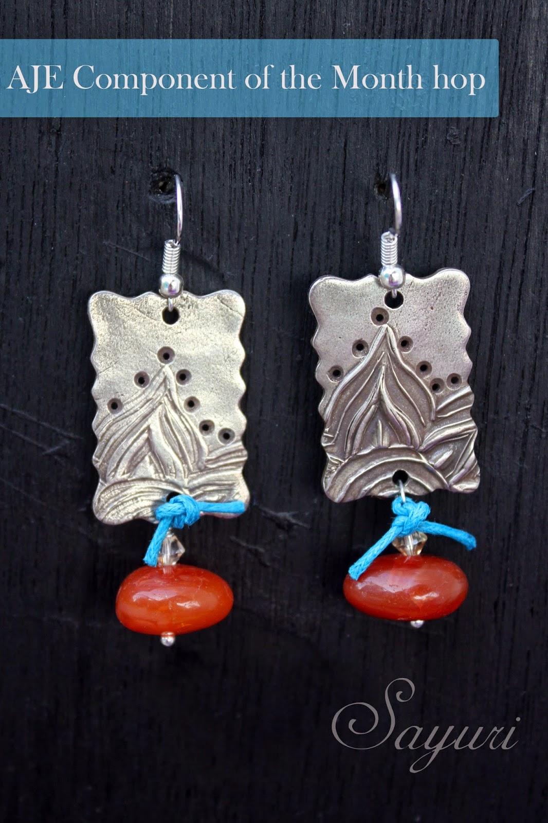 White Copper earrings