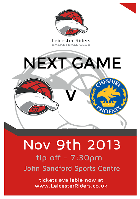Leicester Riders Next Game Poster 2013
