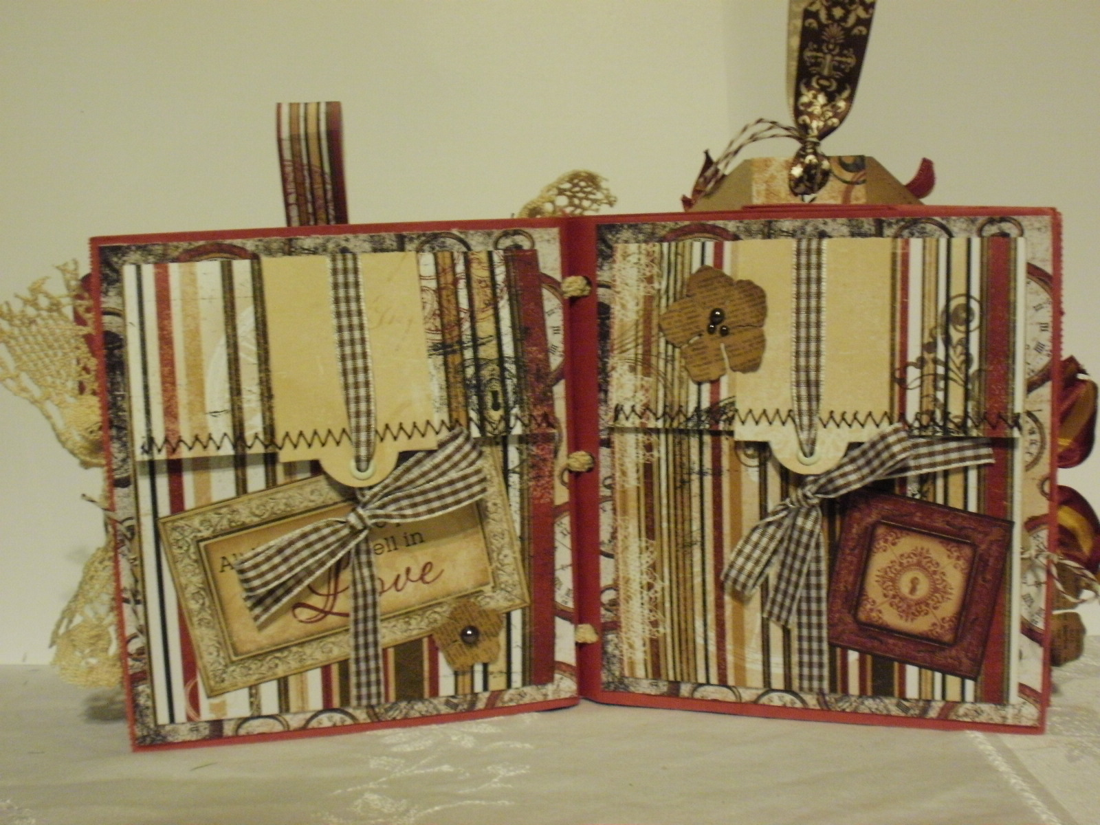 How to make scrapbook vintage - I Have Made This 6x6 Vintage Scrapbook Album A Family History Album Using Bo Bunnys Timepiece Papers Thought I Could Make It A Bit Different Then Some Of