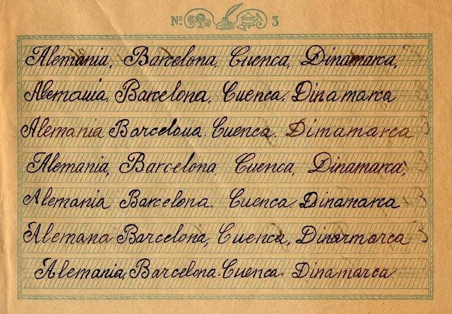 Cuaderno caligrafico