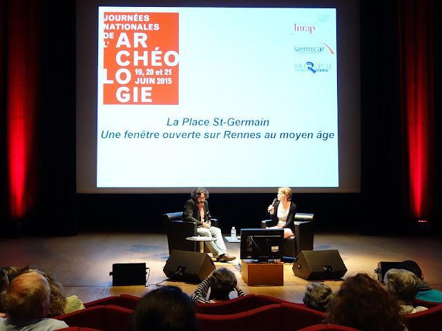Laurent Beuchet présente les premier résultats des fouilles archéologiques de l'Inrap sur la Place Saint-Germain