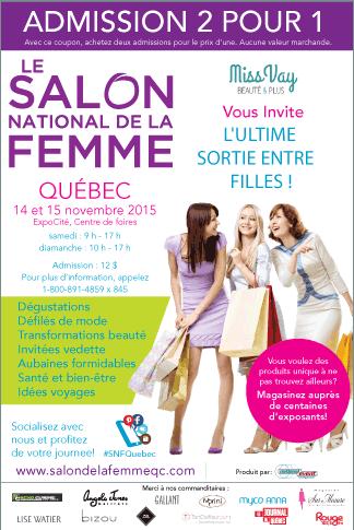 Admission 2 pour 1 Salon National de la Femme