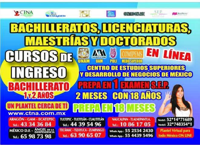 Inscripciones para Prepa en 1 mes | prepa en 2 meses, Bachillerato en 1 mes | Bachillerato 2 meses