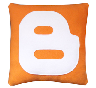 Blogger Logo On A Cushion