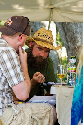 Judging during the Texas Mead Fest homebrew competition