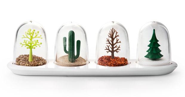 Qualy, Saleros, cuatro estaciones, Four Seasons, shakers, arbol, tree