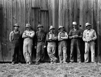 farmers in overalls