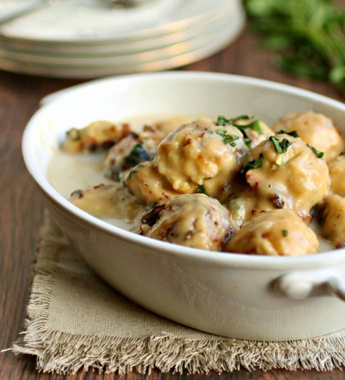 Chicken Meatballs in Creamy Tarragon Sauce