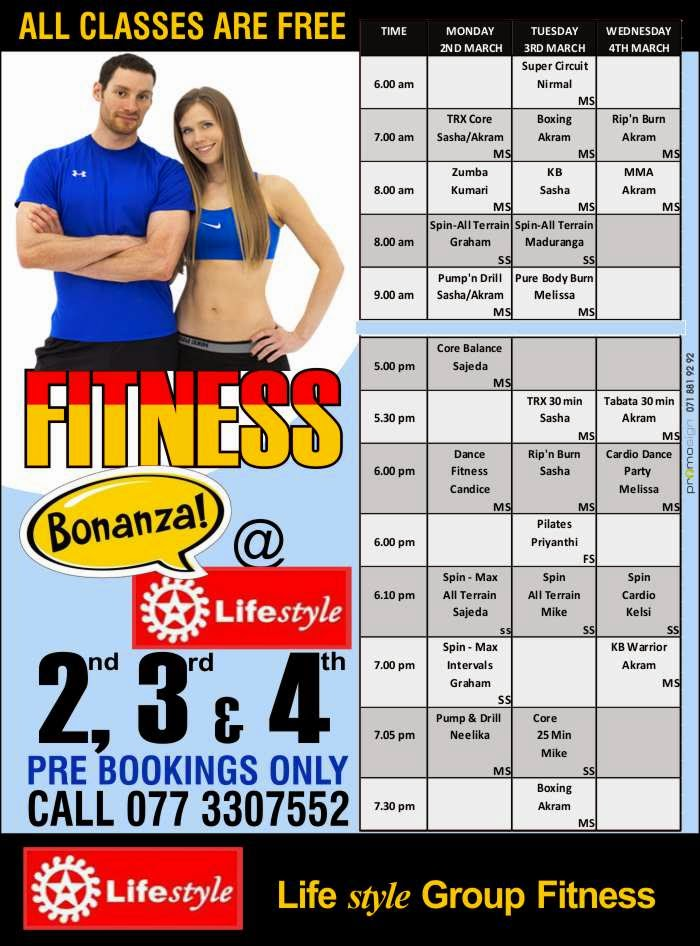 Lifestyle Fitness   Group Fitness Classes in Colombo 07.