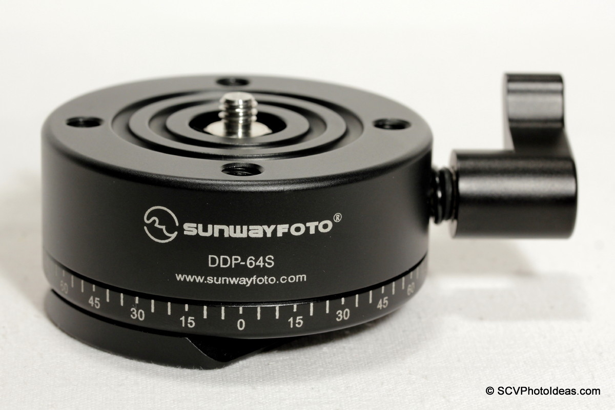 Sunwayfoto DDP-64SX Indexing Rotator front-top view