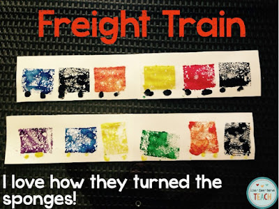 Freight Train, preschool crafts, preschool stories, Donald Crews