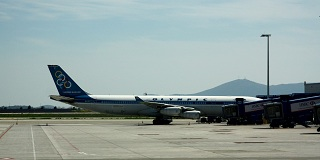 Stored Olympic Airways aircraft