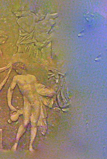Antique, bas-relief, rêverie, figures de l'ancienne Grèce.