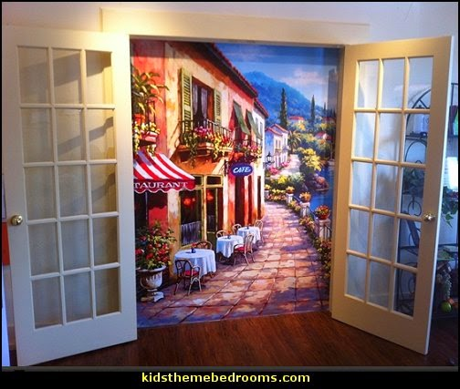 creative windows - window decorations - window wallpaper - window murals - curtains - decorative window & Decorating theme bedrooms - Maries Manor: creative windows - window ...