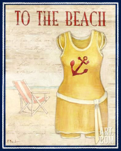 Vintage Bathing Suit Art