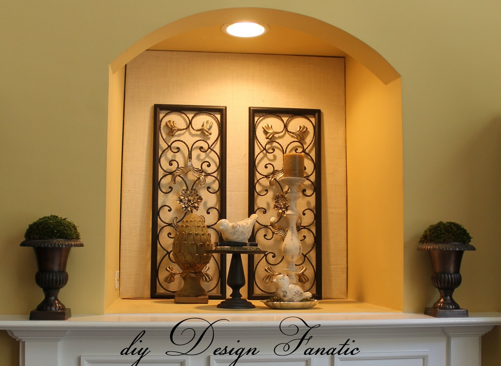 Diy design fanatic my new niche for How to decorate an alcove in a wall